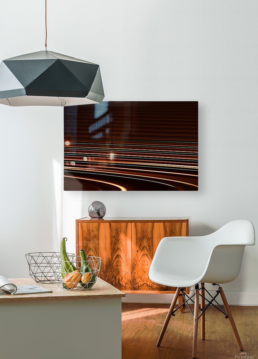 TRAX  HD Metal print with Floating Frame on Back