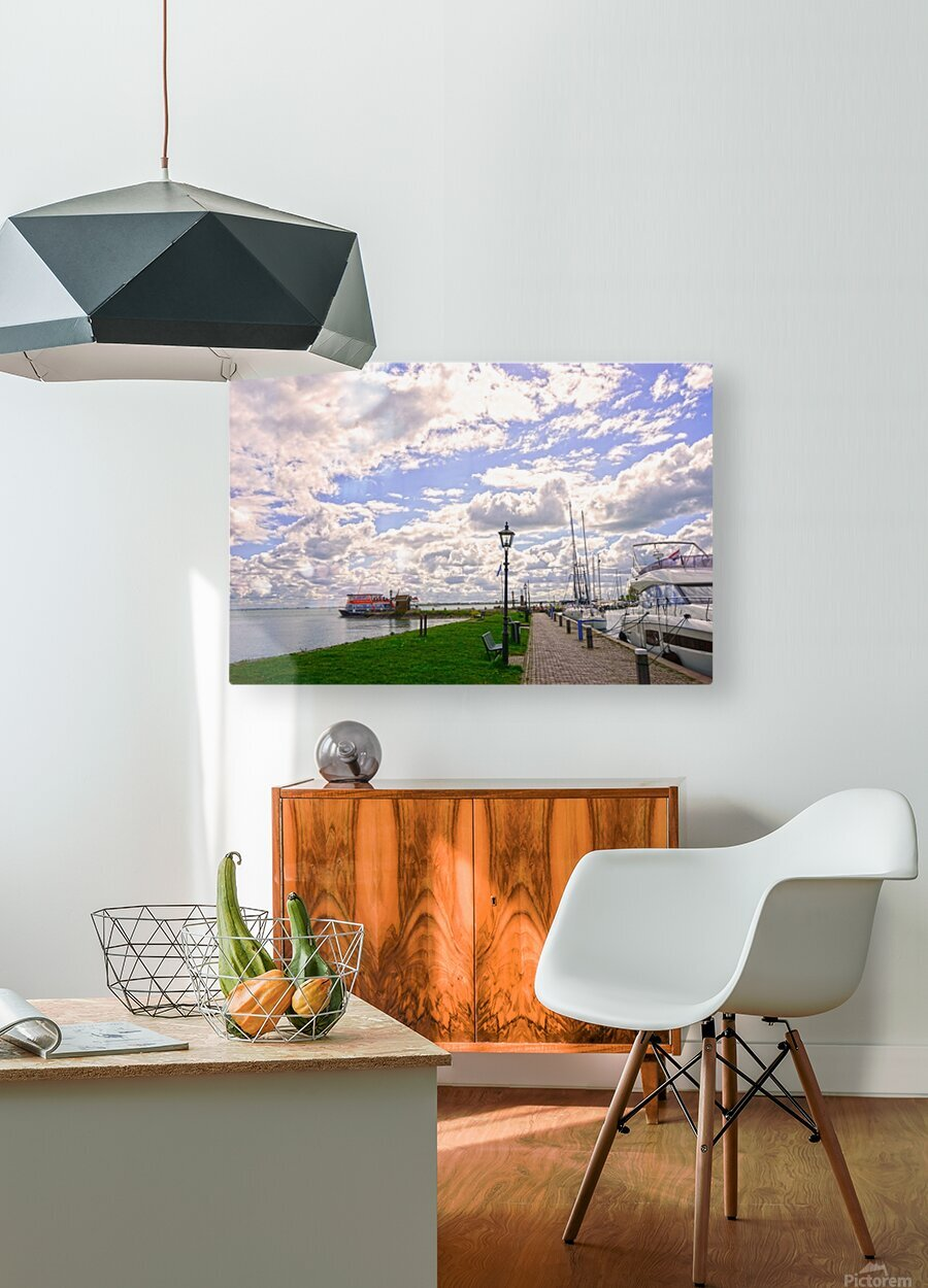 Inland Harbor Netherlands 3 of 5  HD Metal print with Floating Frame on Back