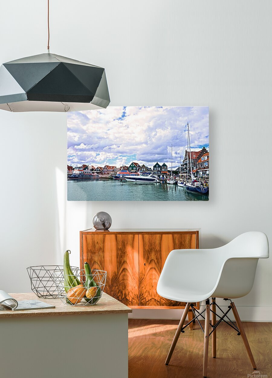 Inland Harbor Netherlands 1 of 5  HD Metal print with Floating Frame on Back