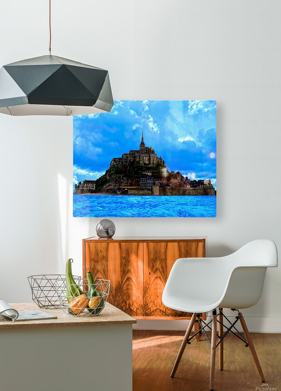 Mont Saint Michel   HD Metal print with Floating Frame on Back