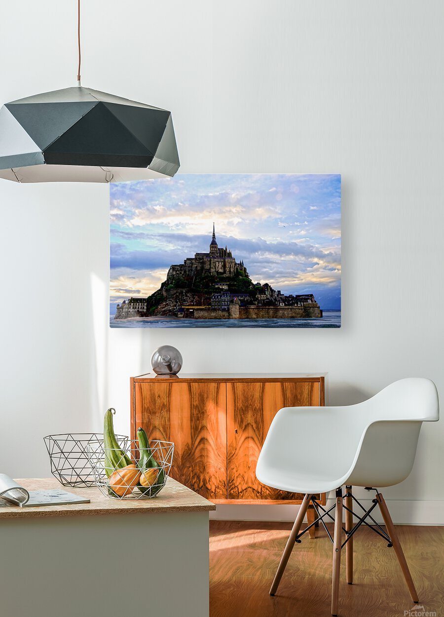 Mont St Michael Rising Tide  HD Metal print with Floating Frame on Back