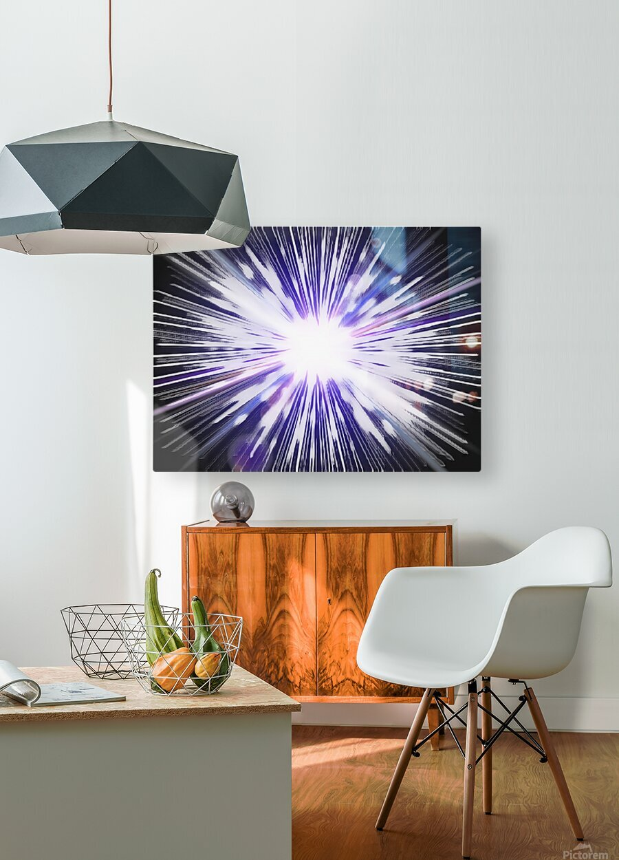 Speed of light  HD Metal print with Floating Frame on Back