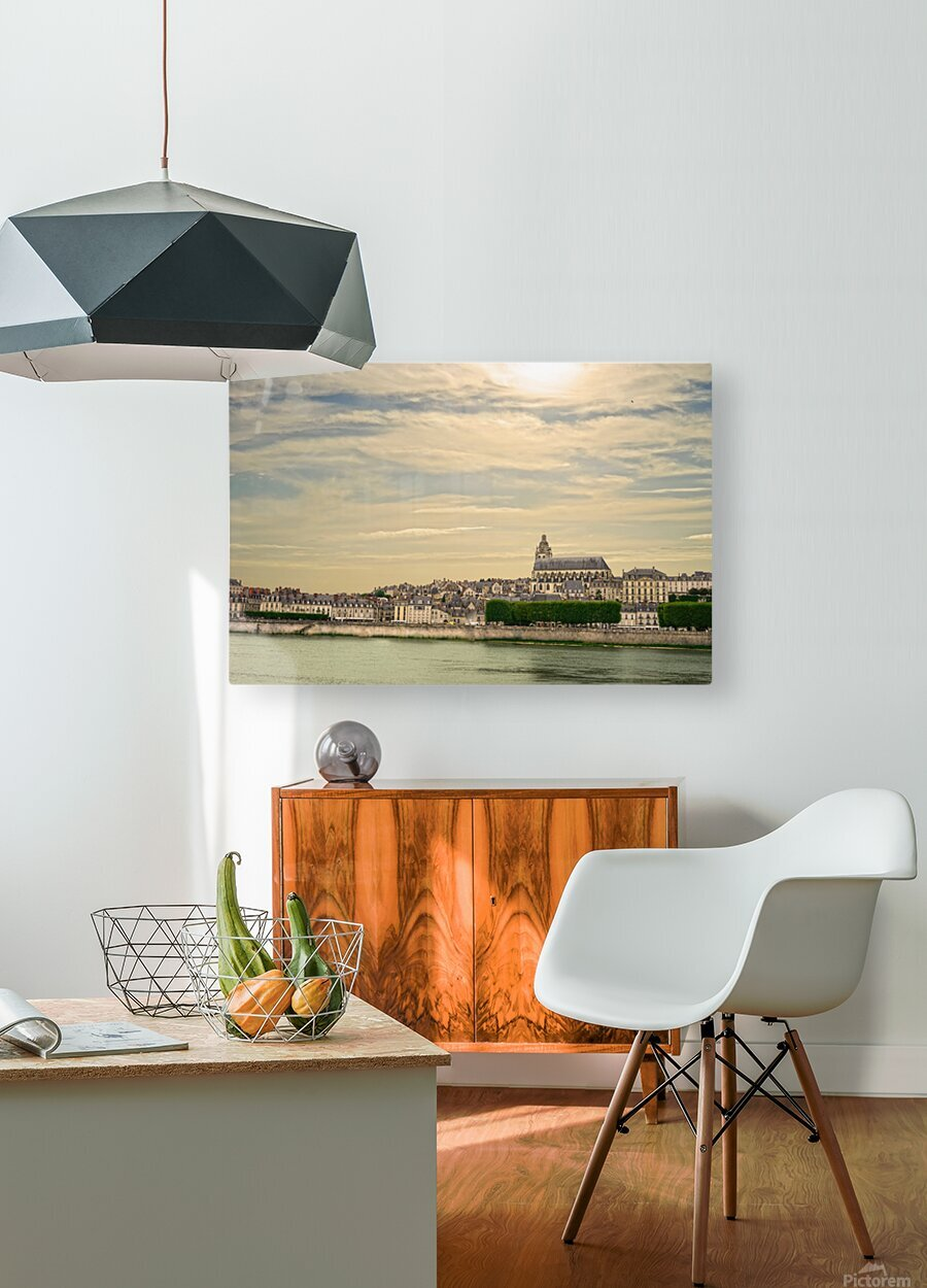 Cathedrale Saint Louis Across the Loire  HD Metal print with Floating Frame on Back