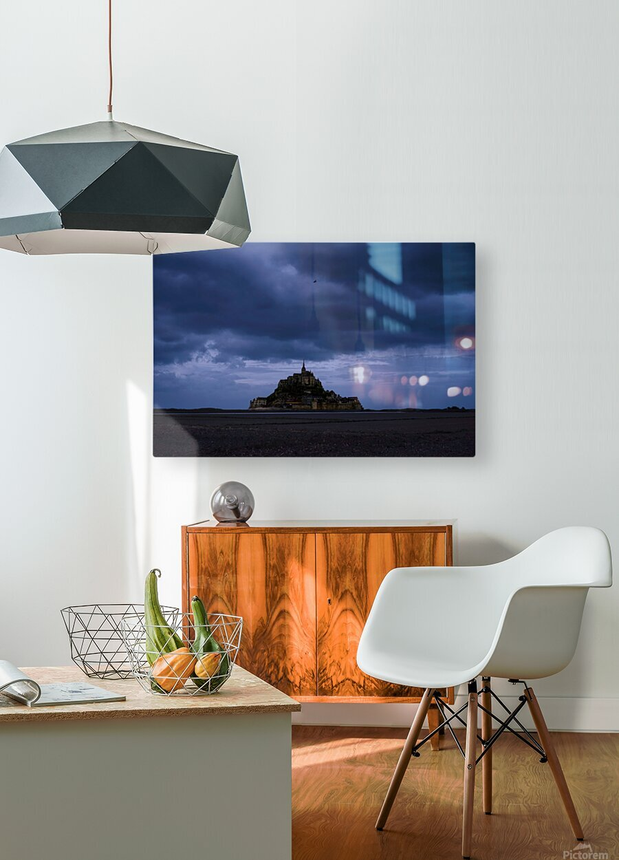 A Day at Mont Saint Michel 12 of 12  HD Metal print with Floating Frame on Back