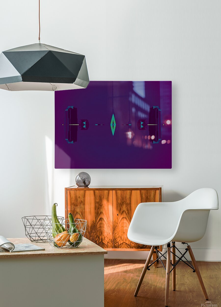 Portal  80   HD Metal print with Floating Frame on Back