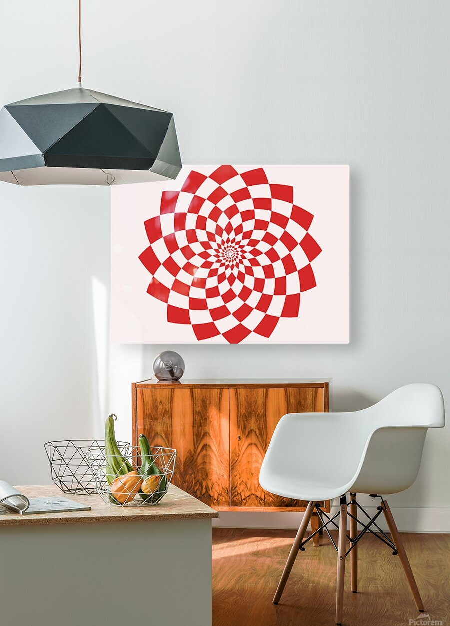 Red flake   HD Metal print with Floating Frame on Back