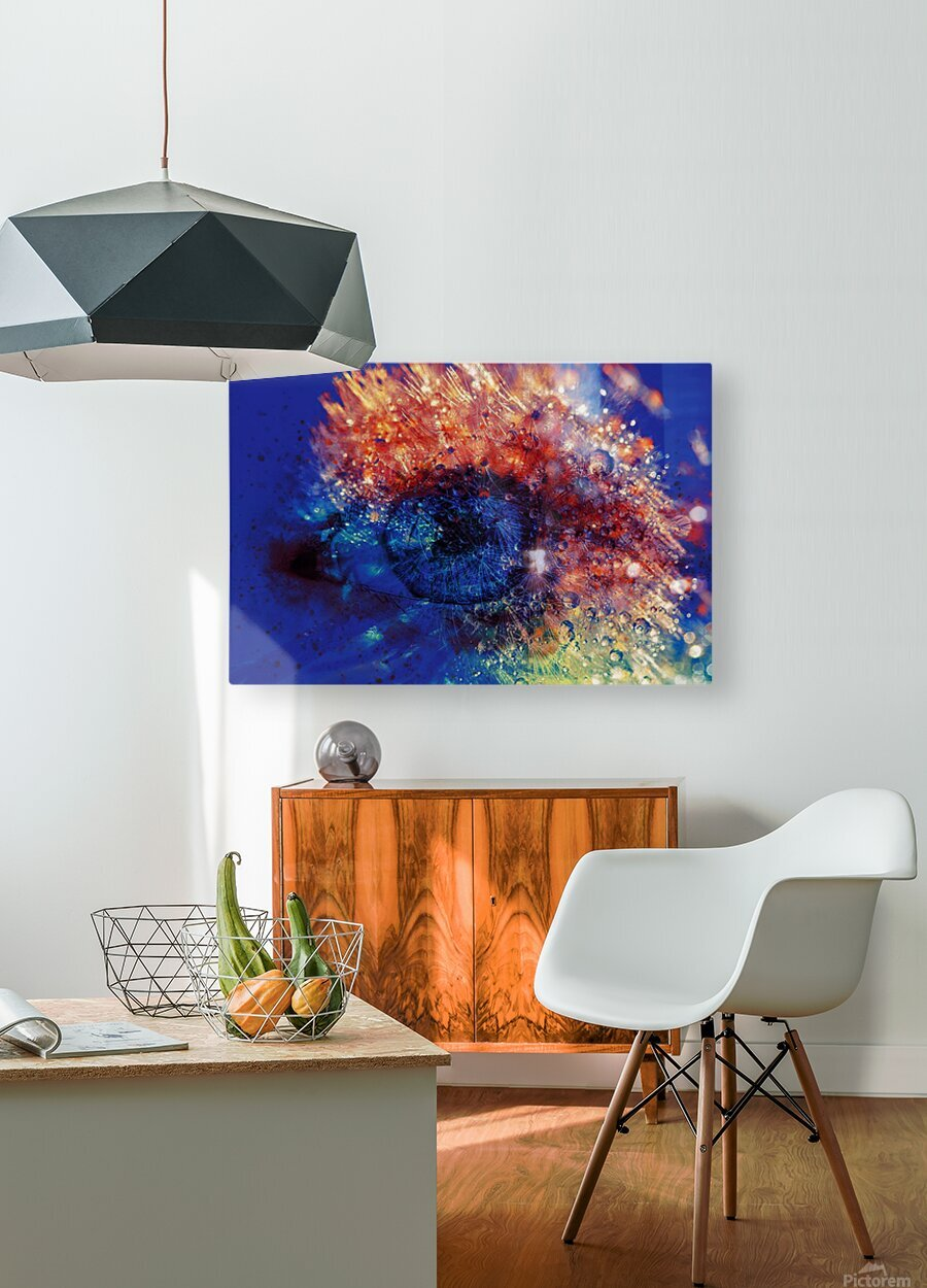 Vision  HD Metal print with Floating Frame on Back