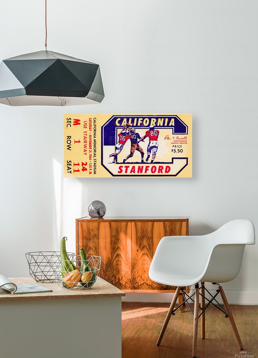 1964 California vs. Stanford  HD Metal print with Floating Frame on Back