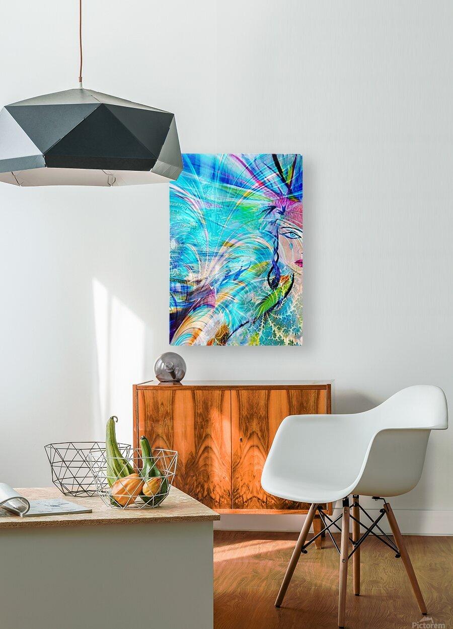 Madeleine  HD Metal print with Floating Frame on Back