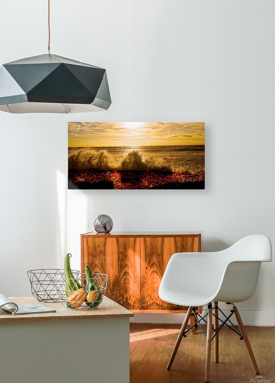 Kilauea Lava Flow  HD Metal print with Floating Frame on Back