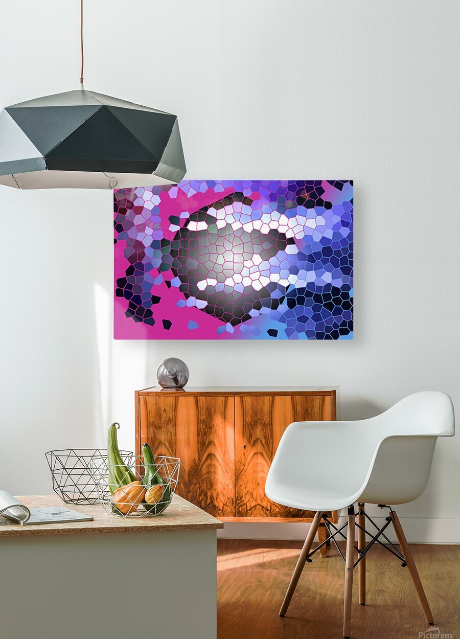 DARK SIDE  HD Metal print with Floating Frame on Back