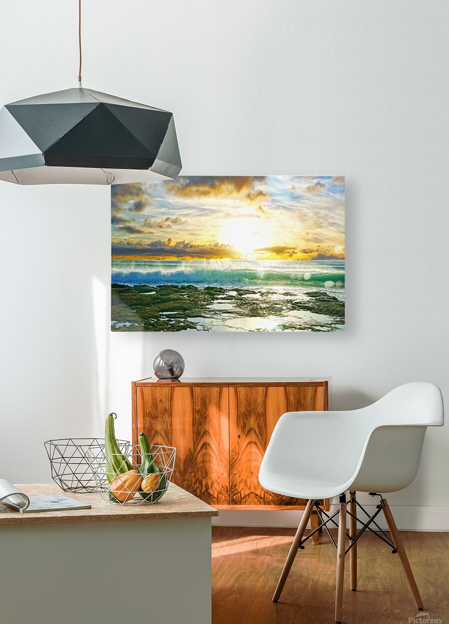 Changing of the Tides  HD Metal print with Floating Frame on Back
