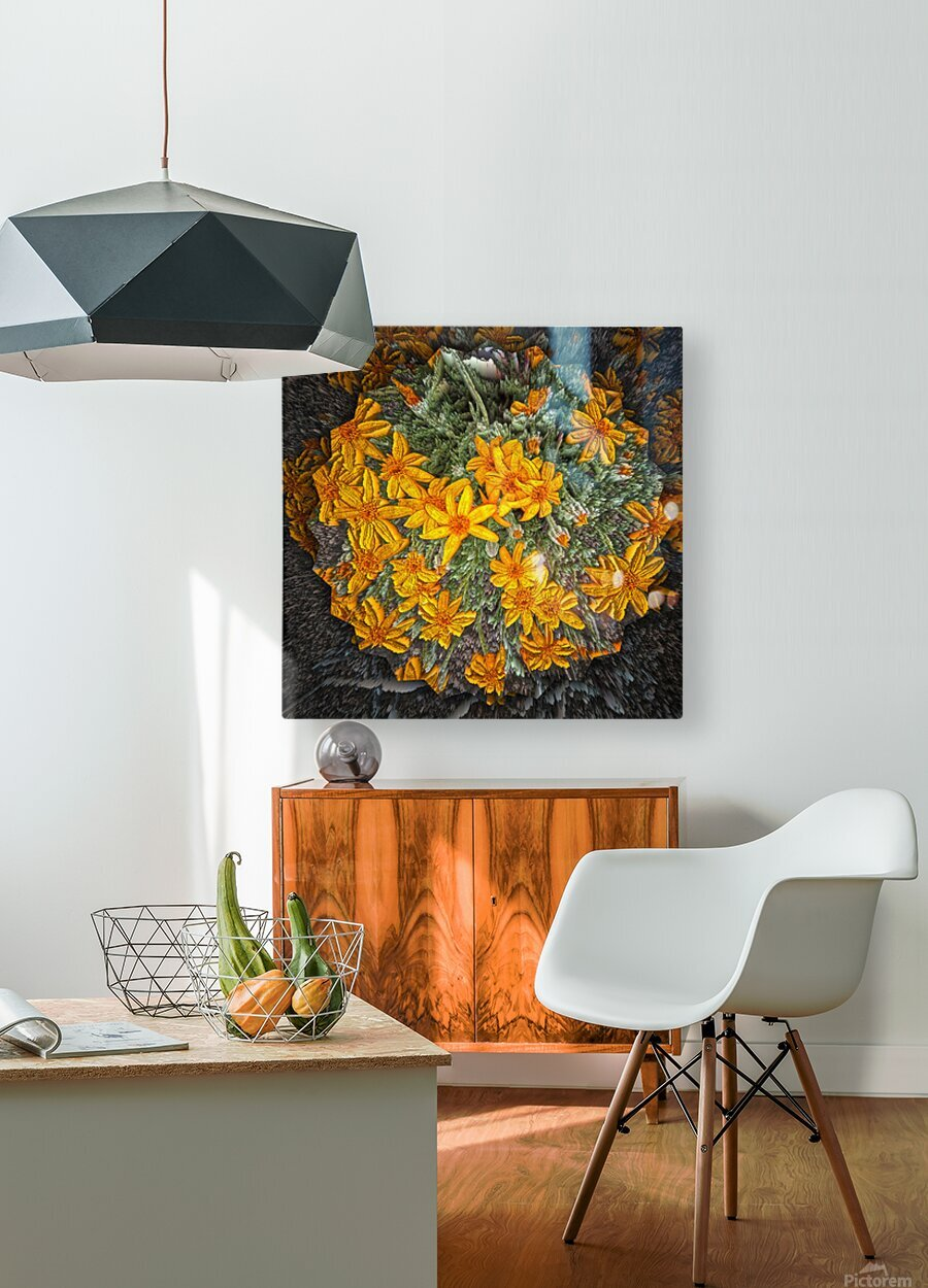 Textures  HD Metal print with Floating Frame on Back