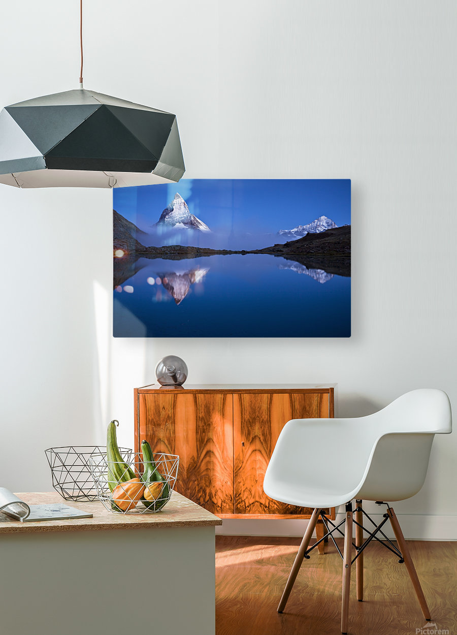 Night Mirror  HD Metal print with Floating Frame on Back