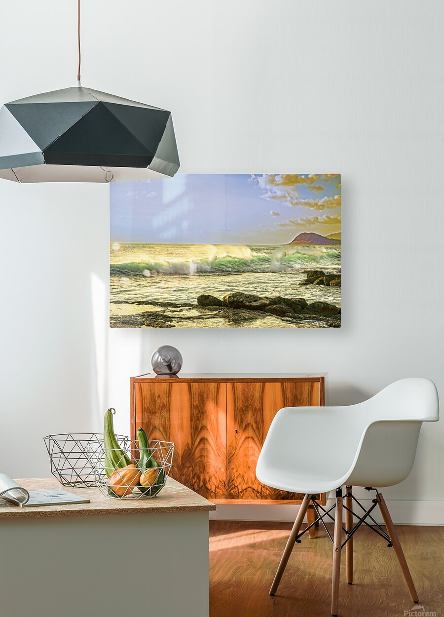 Spring Surge After the Storm  HD Metal print with Floating Frame on Back