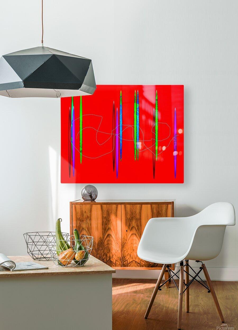 HorizonRed  HD Metal print with Floating Frame on Back