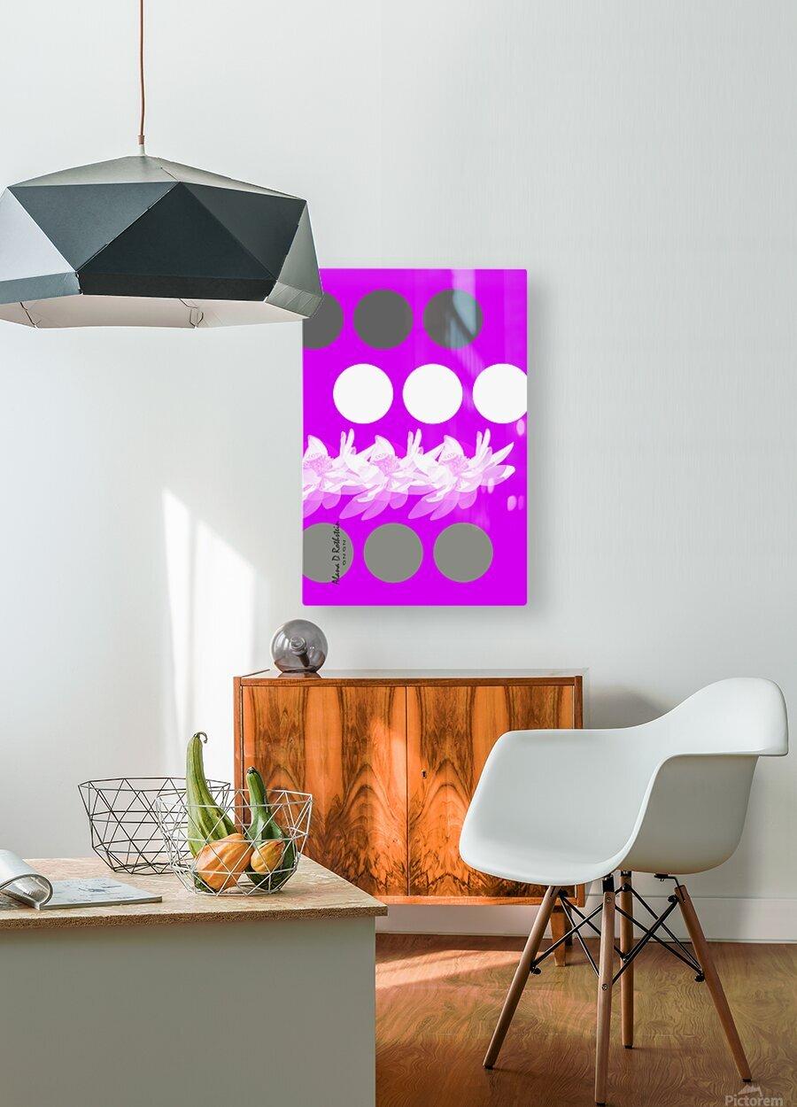 Lotus 5  HD Metal print with Floating Frame on Back