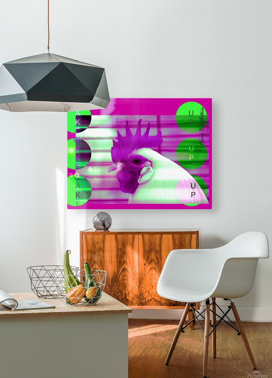 Wake Up 2021  HD Metal print with Floating Frame on Back