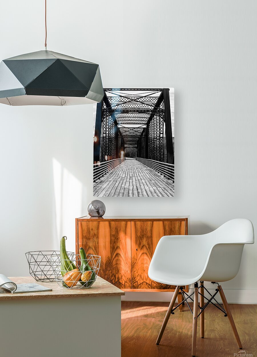 THE CROSSING  HD Metal print with Floating Frame on Back