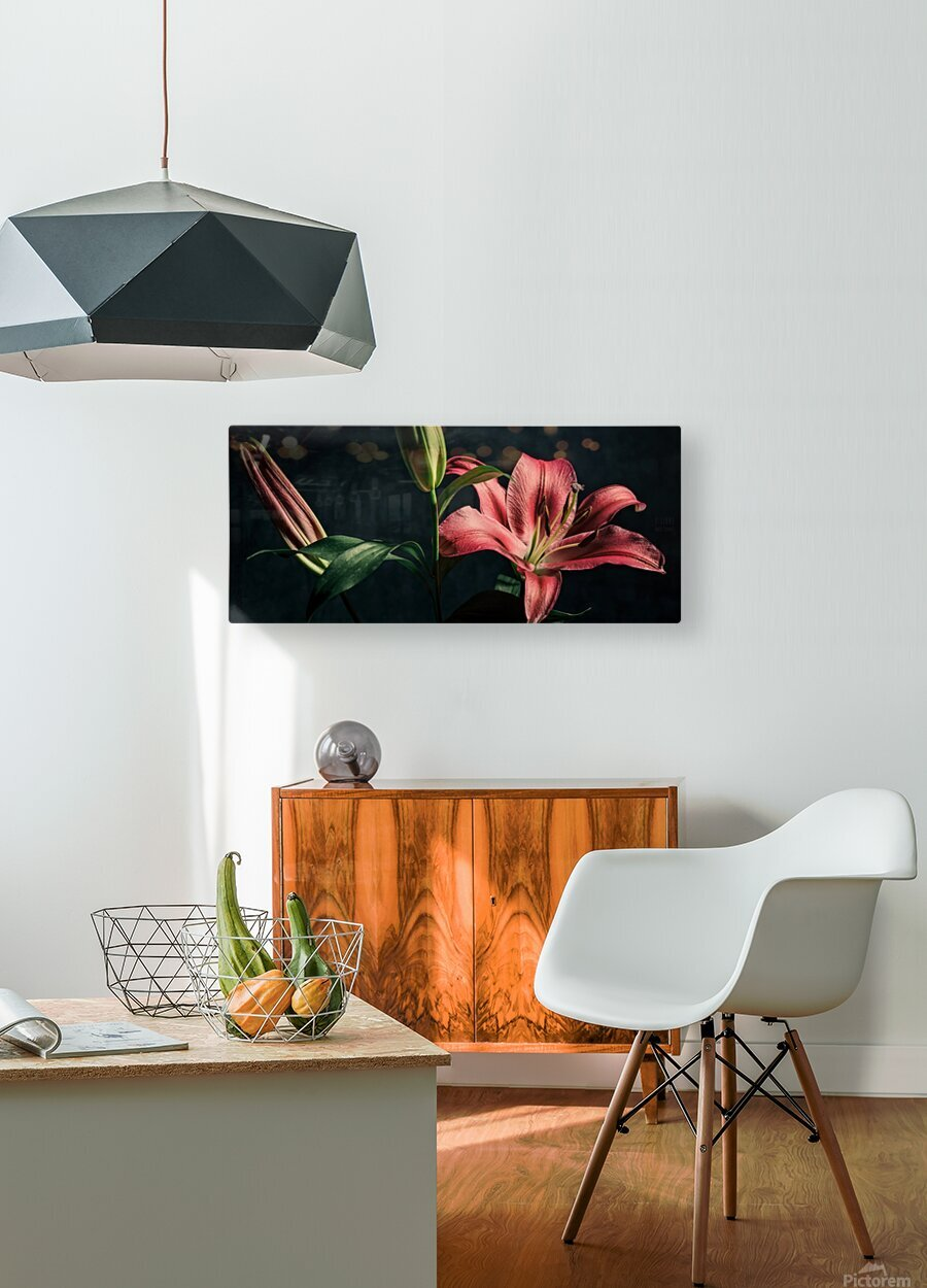 Floraison 1  HD Metal print with Floating Frame on Back