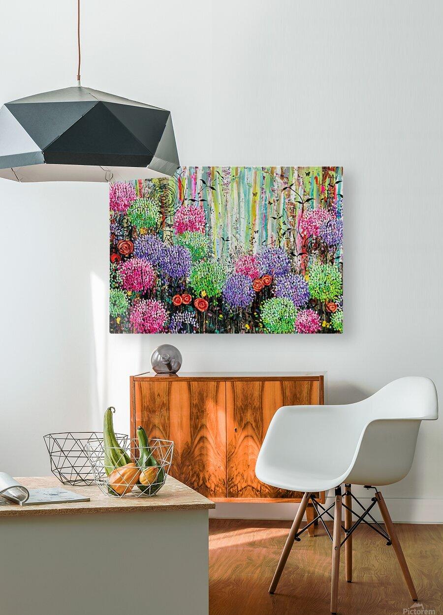 Summer Garden   HD Metal print with Floating Frame on Back