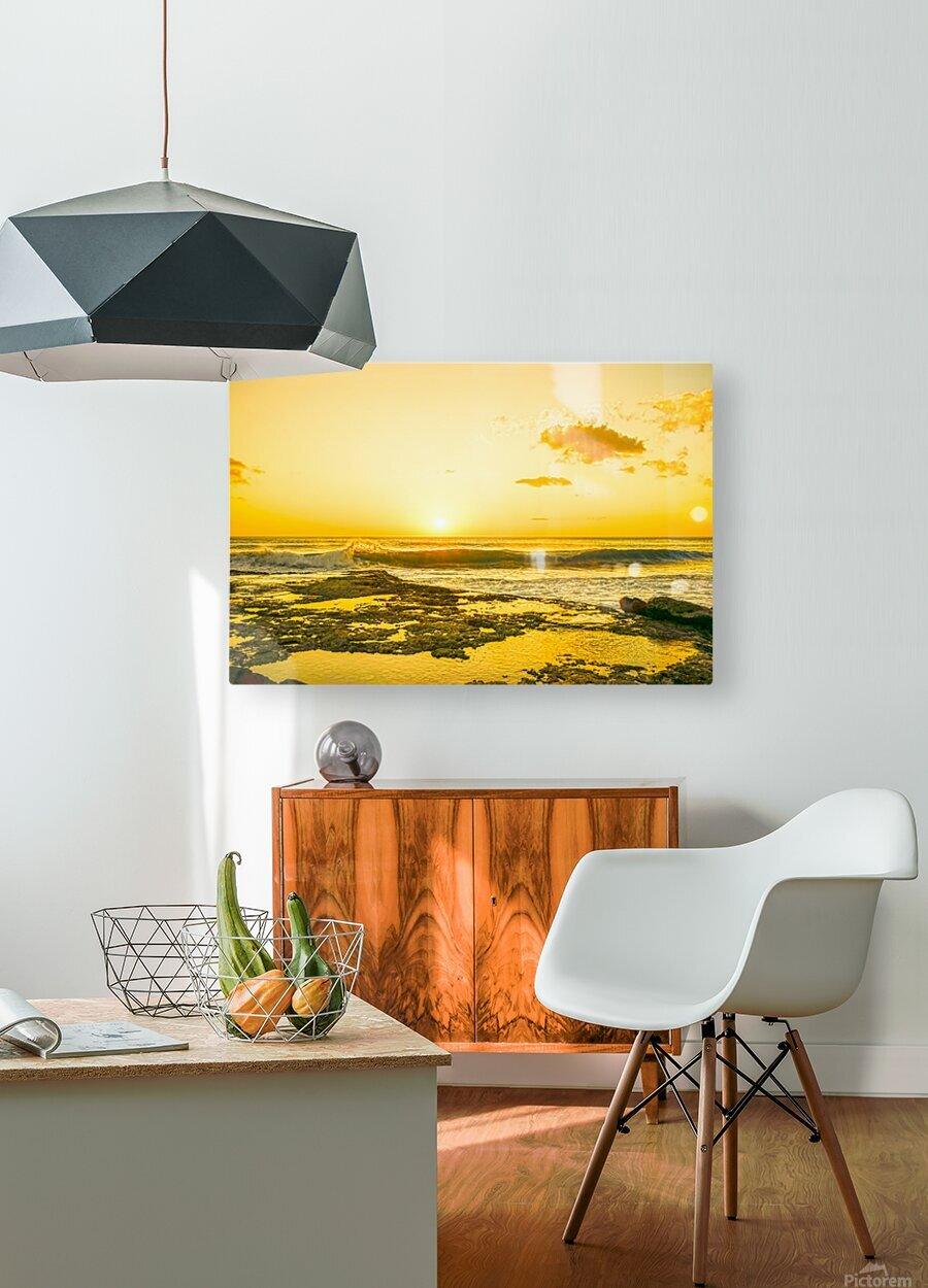 Golden Moment  HD Metal print with Floating Frame on Back