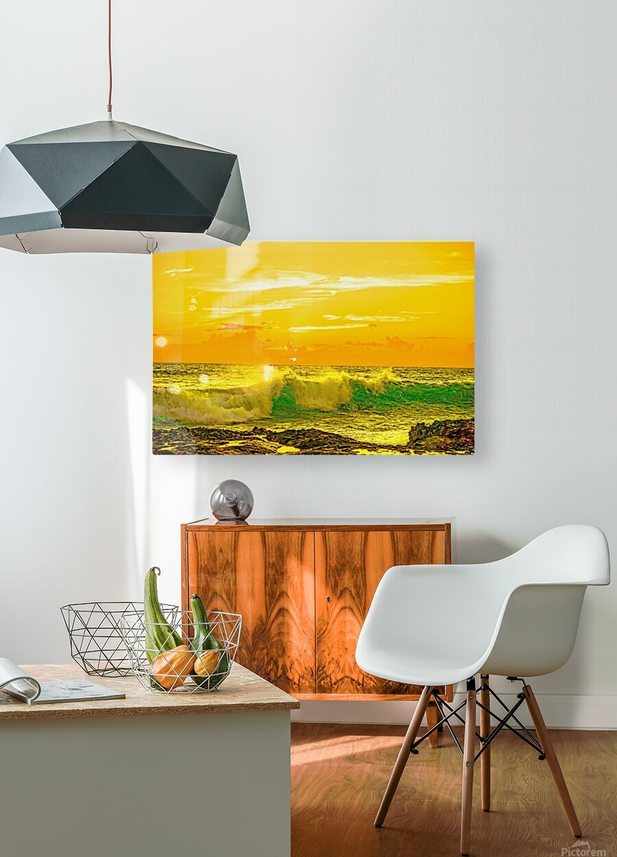 At the Sea Shore  HD Metal print with Floating Frame on Back
