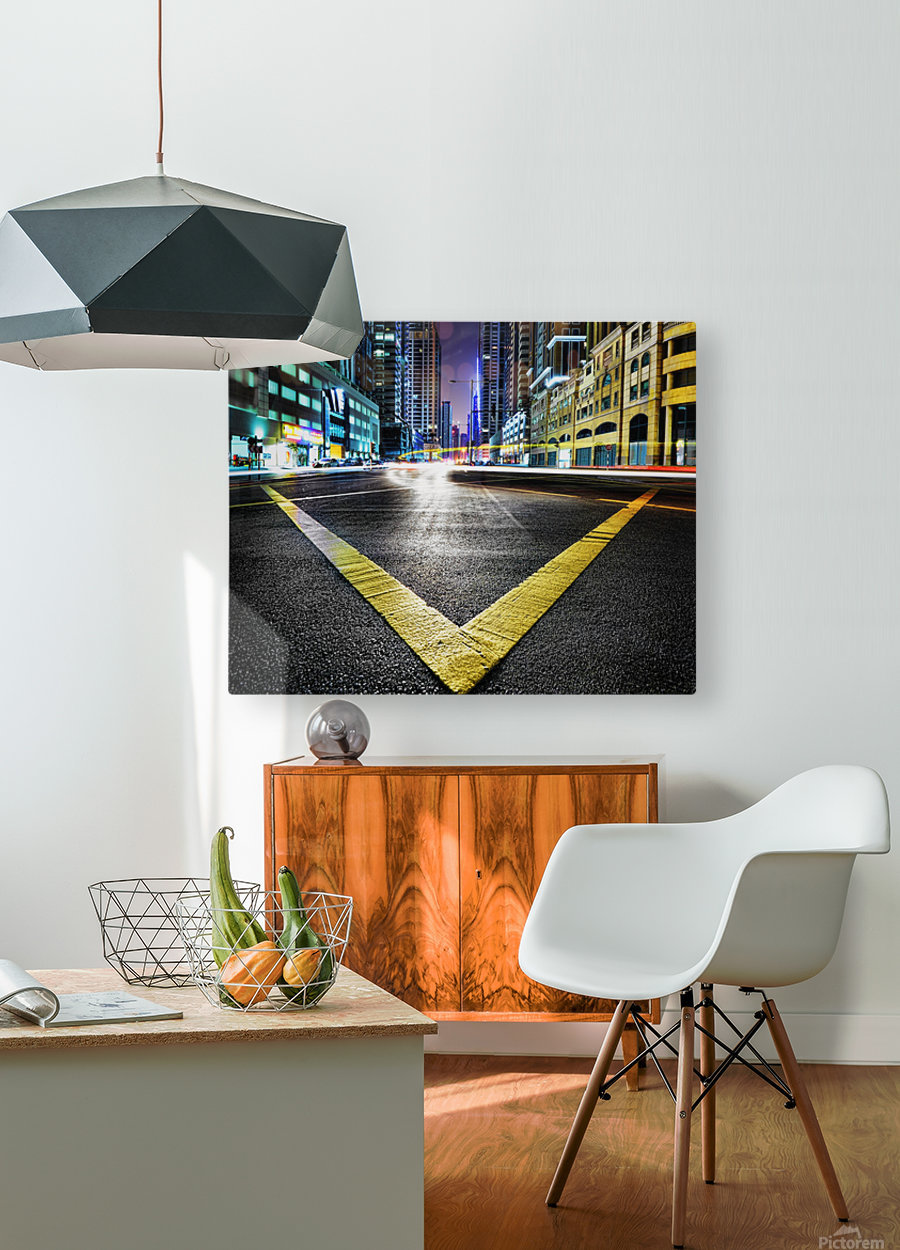 V by Robert Work   HD Metal print with Floating Frame on Back