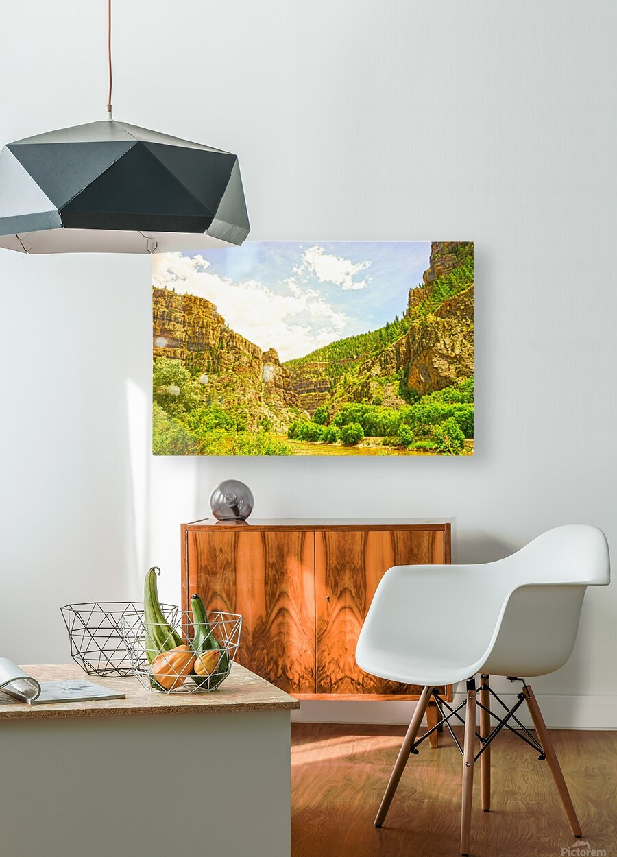 Golden Colorado 2  HD Metal print with Floating Frame on Back
