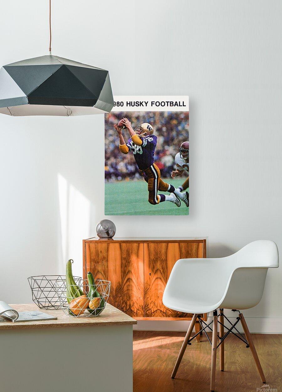 1980 Washington Huskies Football Poster  HD Metal print with Floating Frame on Back
