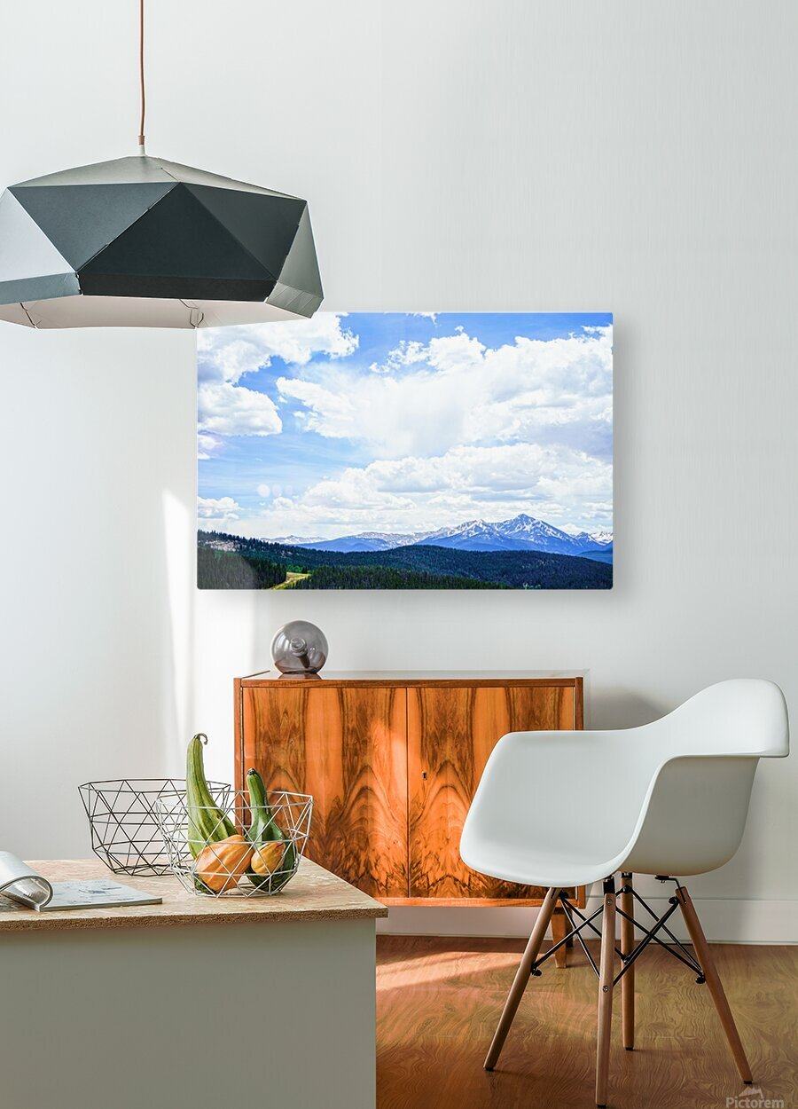 The Sawatch Range Colorado  HD Metal print with Floating Frame on Back