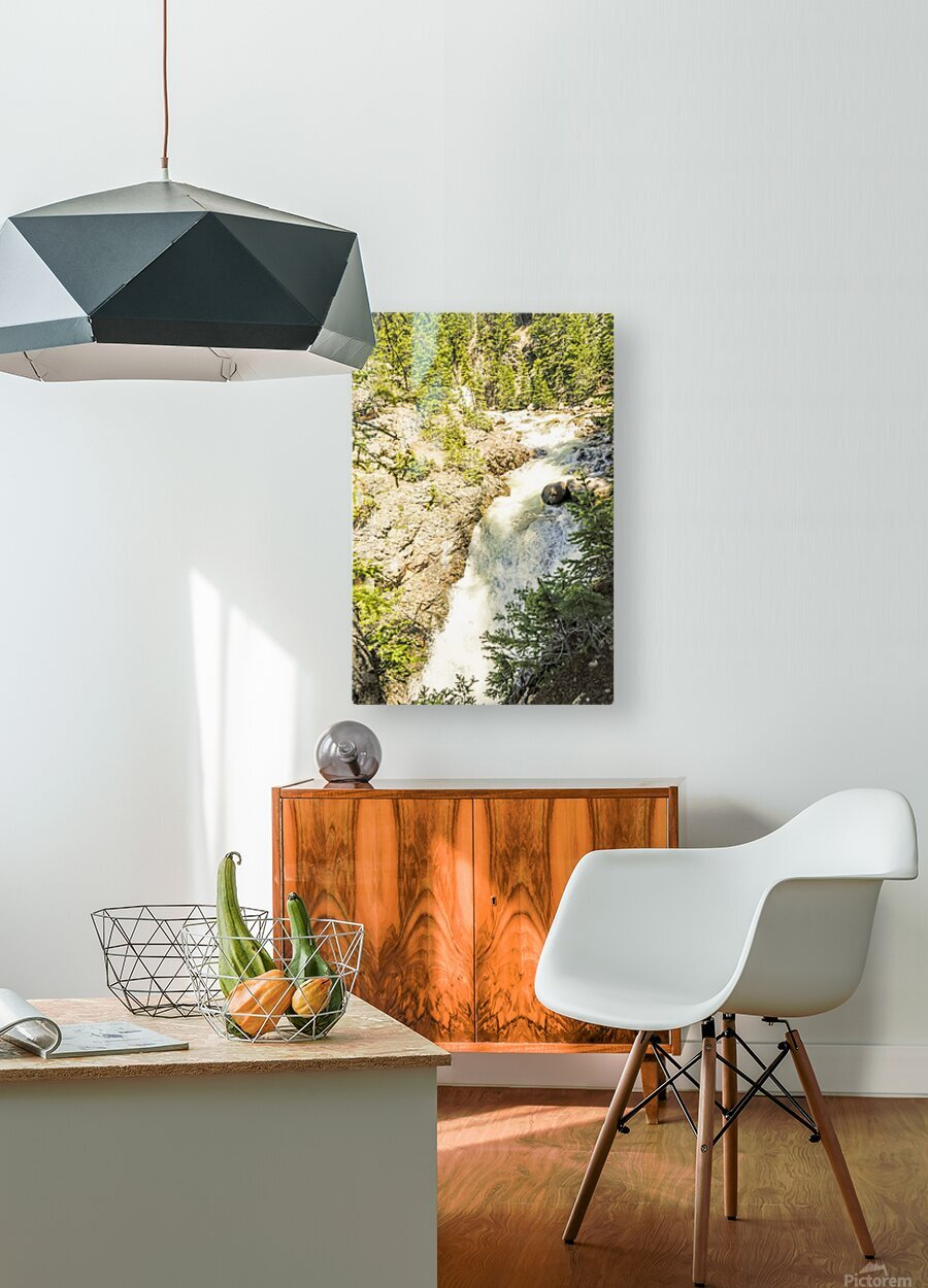 Rocky Mountain Rapids and Waterfalls 6 of 8  HD Metal print with Floating Frame on Back