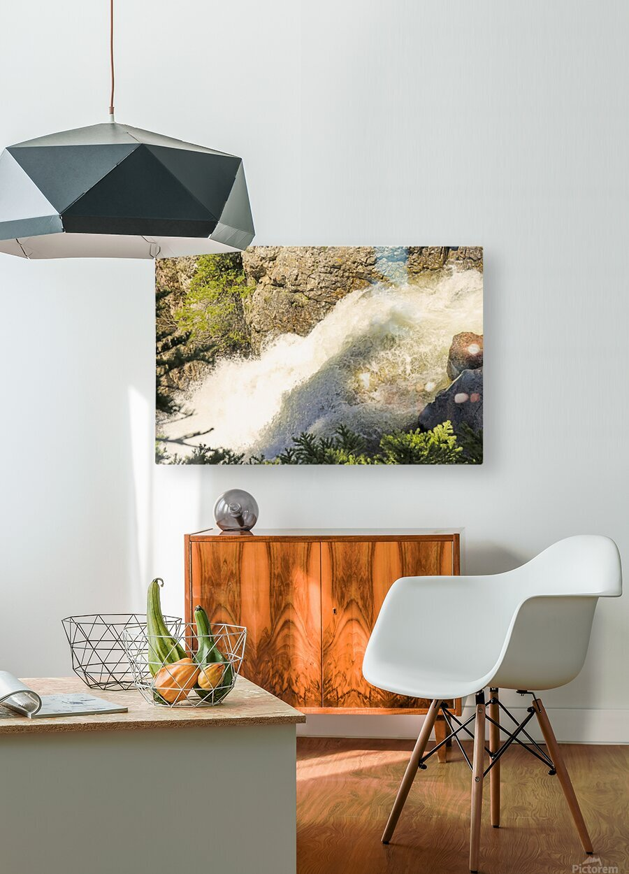 Rocky Mountain Rapids and Waterfalls 7 of 8  HD Metal print with Floating Frame on Back