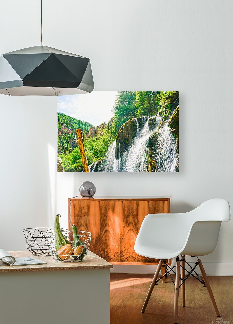 Waterfall Country Colorado 1 of 4  HD Metal print with Floating Frame on Back