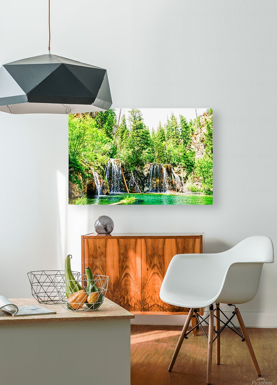 Waterfall Country Colorado 3 of 4  HD Metal print with Floating Frame on Back