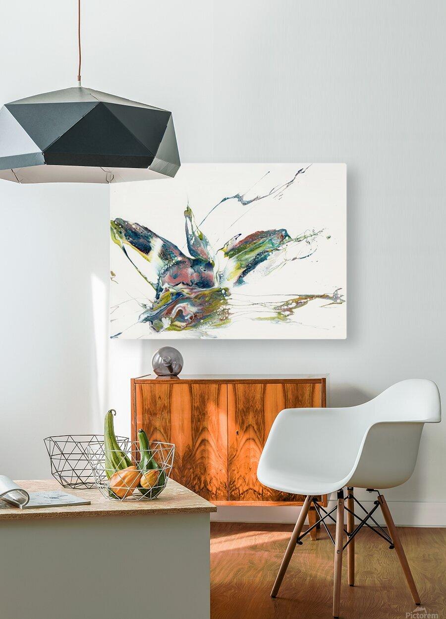 Chameleon  HD Metal print with Floating Frame on Back