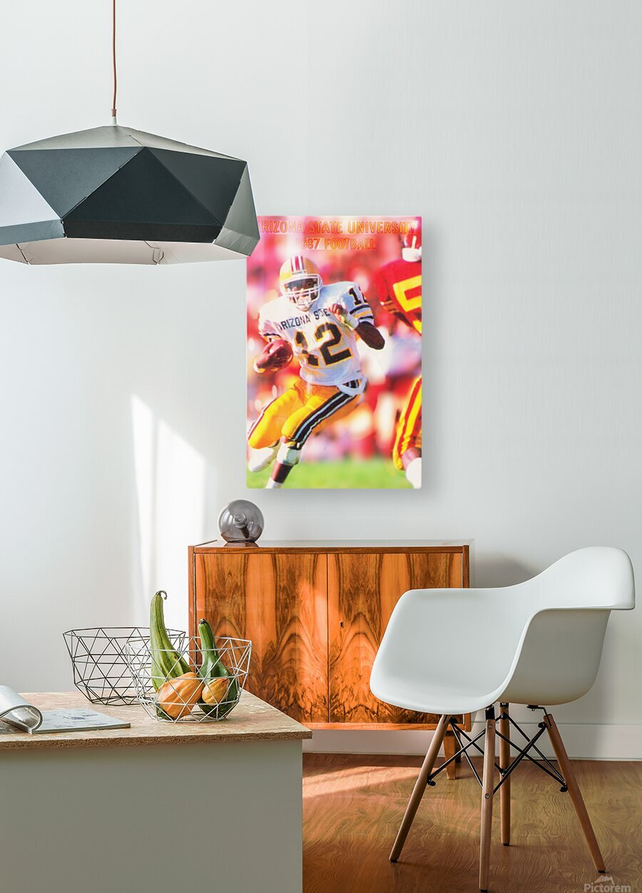 1987 Arizona State Football Poster  HD Metal print with Floating Frame on Back