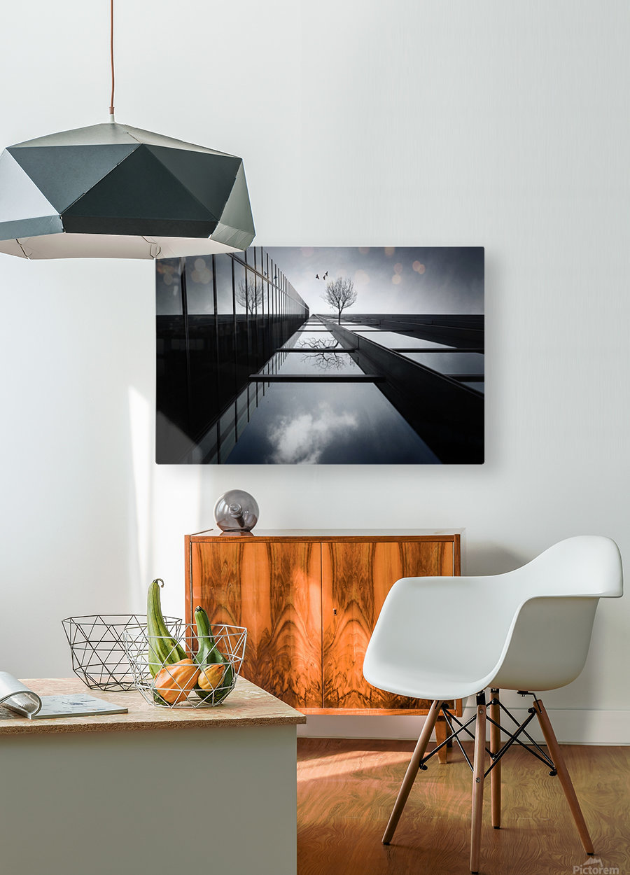 The Ethereal Flying Garden  HD Metal print with Floating Frame on Back