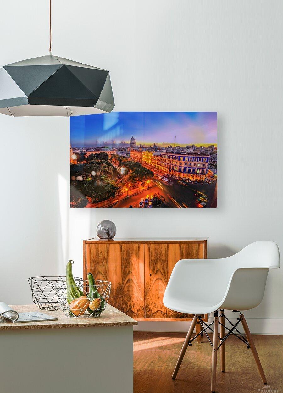 Havana Cuba  HD Metal print with Floating Frame on Back