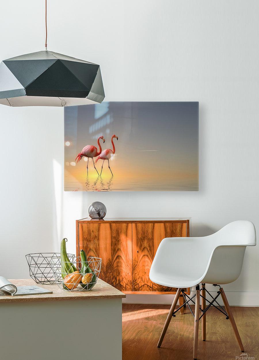 Serenity II  Impression métal HD avec cadre flottant sur le dos