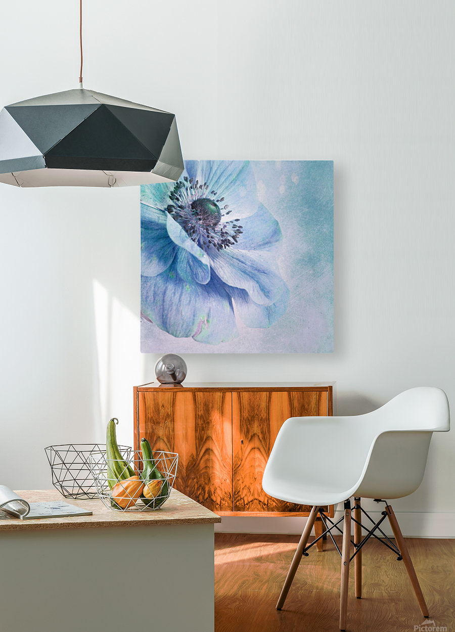 Shades of Blue by Priska Wettstein   HD Metal print with Floating Frame on Back