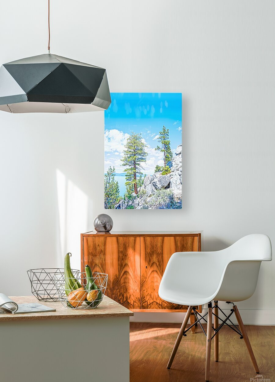 Top of the Mountain  HD Metal print with Floating Frame on Back