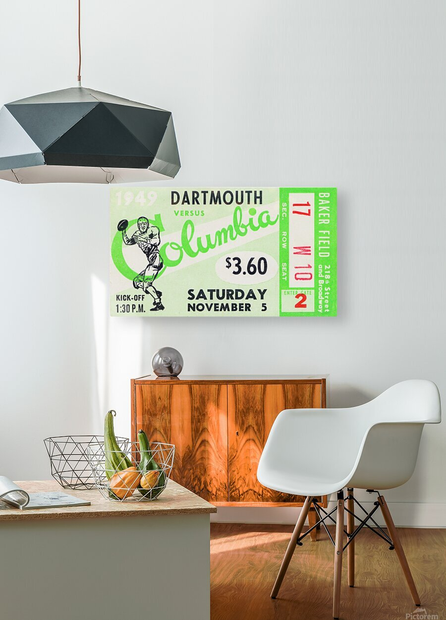 1949 Dartmouth vs. Columbia  HD Metal print with Floating Frame on Back