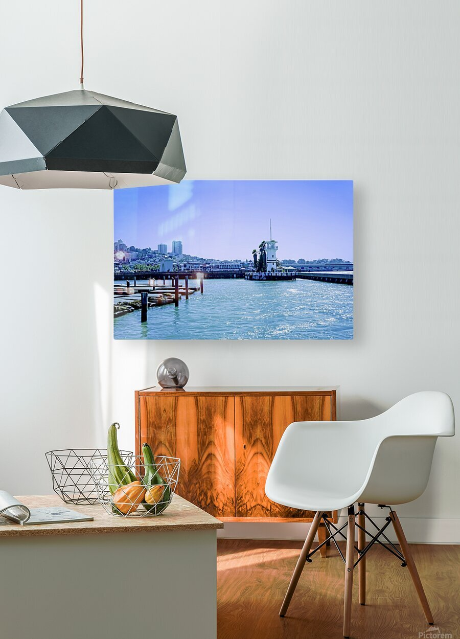 San Francisco Bay  HD Metal print with Floating Frame on Back