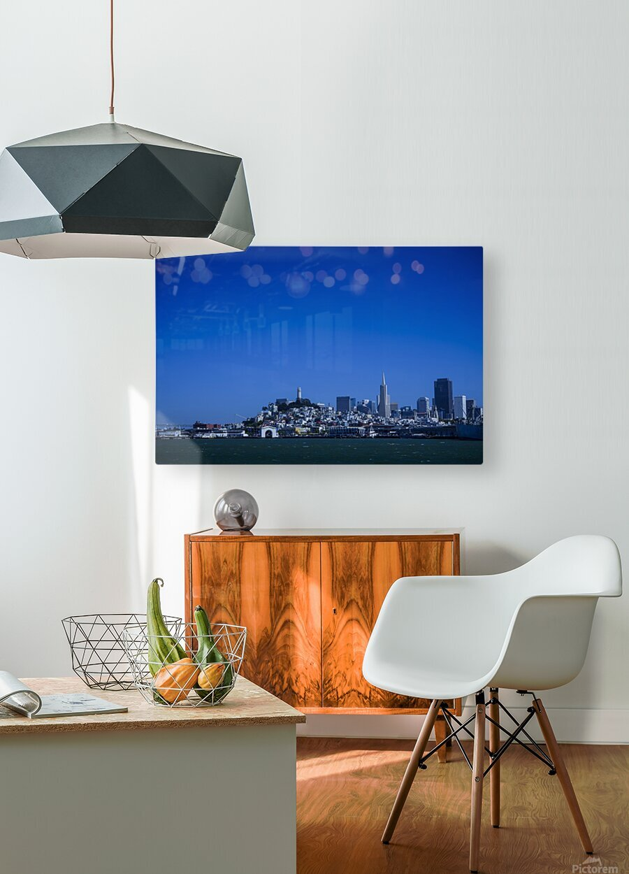 San Francisco  HD Metal print with Floating Frame on Back
