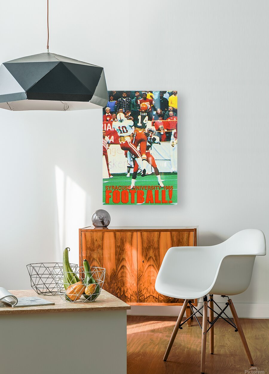 1985 Syracuse Orange Football Poster  HD Metal print with Floating Frame on Back