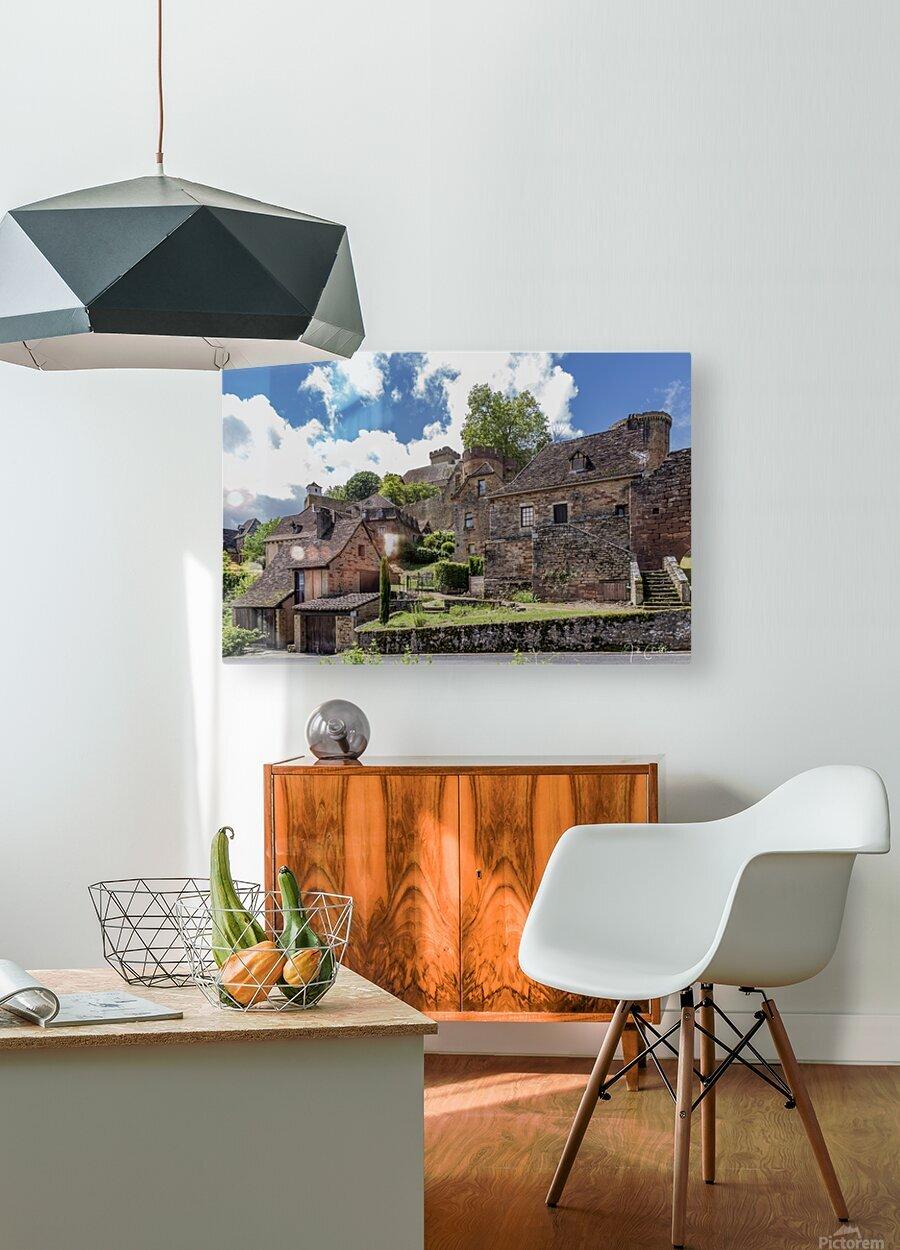 Castelnau Bretenoux  HD Metal print with Floating Frame on Back