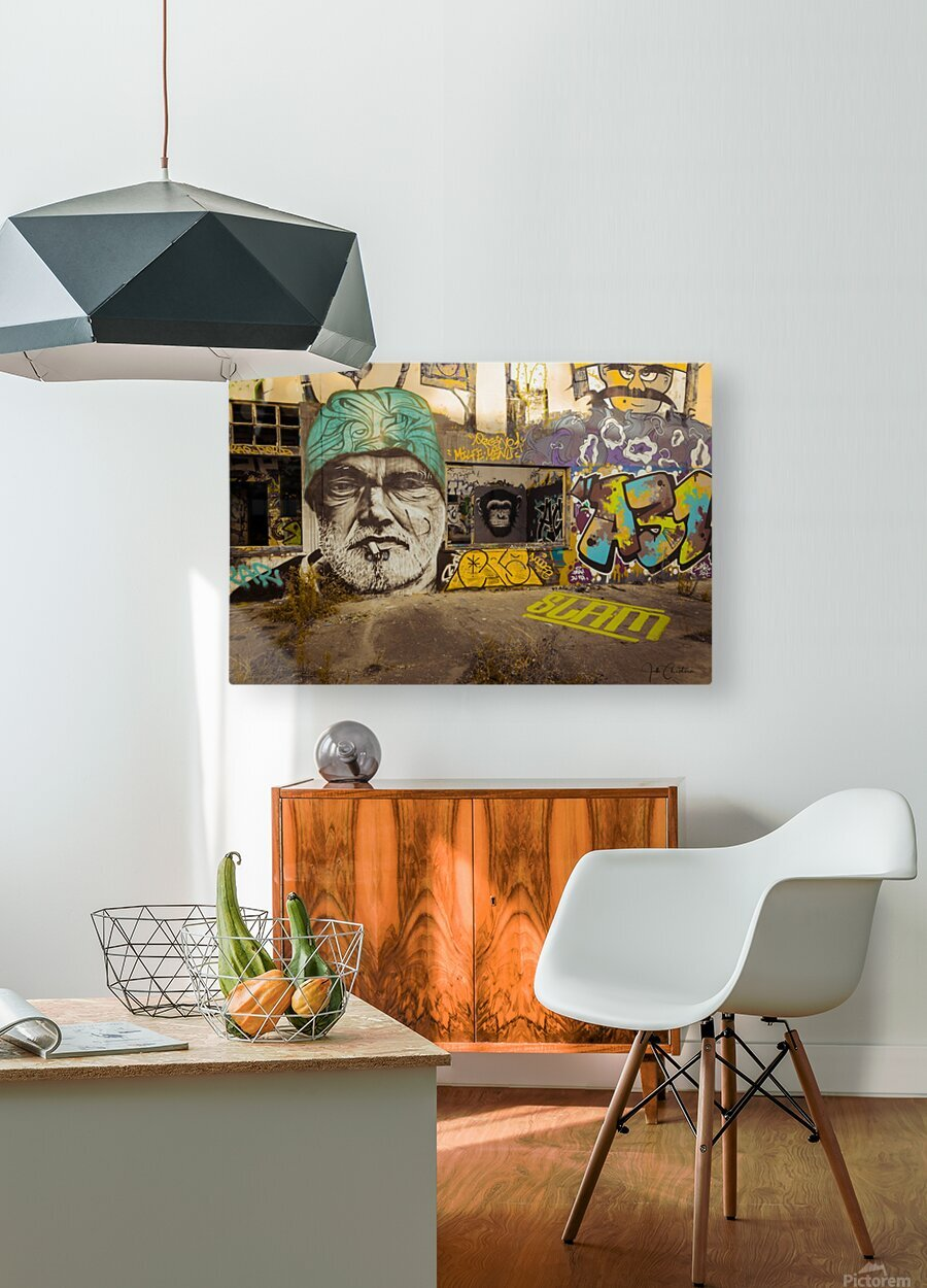 Art Graffiti  HD Metal print with Floating Frame on Back