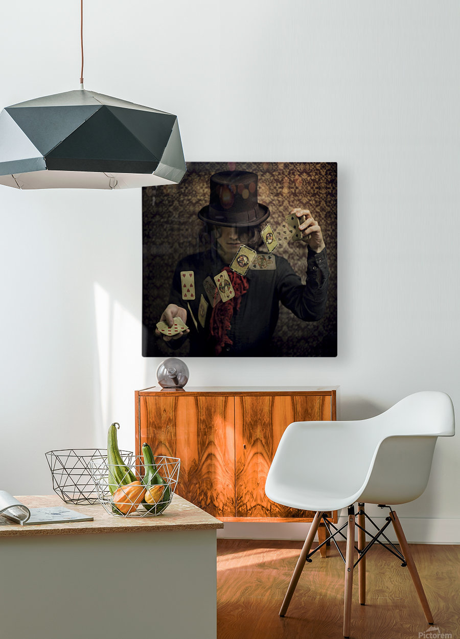 Try your fortune  HD Metal print with Floating Frame on Back