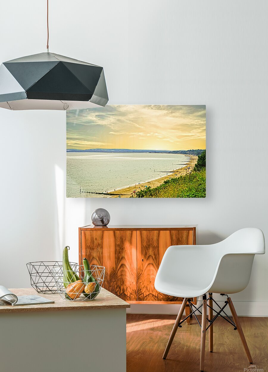 Coastal England  HD Metal print with Floating Frame on Back